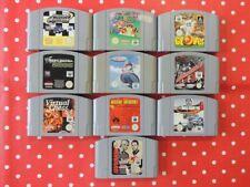 10 x Nintendo 64 N64 Spiele Super Mario 64 Penny Racers Glover Wave Race usw.