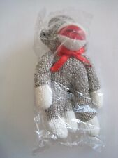 Sock Monkey Ornament Nip Midwest Imports of Cannon Falls 5 1/2""