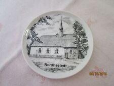 kleiner Porzellan Miniatur Andenken Teller - Nordhastedt - ca. 10 cm  /S66