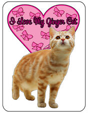 I Love my Ginger Cat Mouse Mat, mousepad