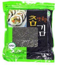 100 Sheets Roasted seaweed Korean Food Laver sushi kimbab nori gimbap