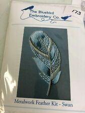 Bluebird Embroidery Co. Metalwork feather embroidery kit
