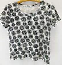 Women's White Stag Black and White Blouse Top Size L/G (12-14) Style WL31100P