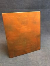 1948 Etched Copper Printing Plate Marriage Announcement Baltimore Maryland MD