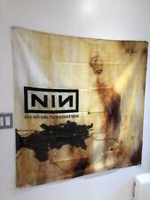 NINE INCH NAILS The Downward Spiral NIN Cover Flag Fabric Wall Tapestry 4x4 Feet