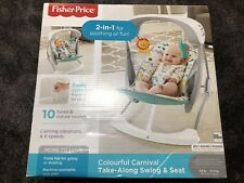 Fisher-Price Carnival Swing & Seat 2 in 1 Baby Chair Toys Sounds Rocker Bouncer