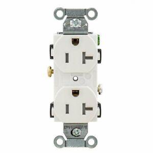 Hubbell Tamper Resistant White Duplex Receptacle 5-20R 20A 125V Bulk CR20WHITRZ