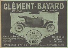 Z9696 Voiture CLEMENT-BAYARD -  Pubblicità d'epoca - 1911 Old advertising
