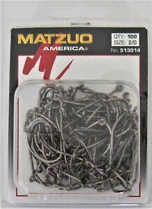 100 Matzuo Fishing 513014 Barbless Salmon Steelhead Fish Hooks Size 2/0