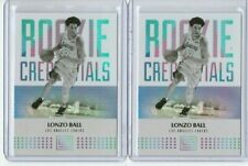 2017-18 Panini Status Rookie Credentials Lonzo Ball Rc Lot Of 2