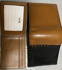 Mens COACH Black&Brown Leather Wallet