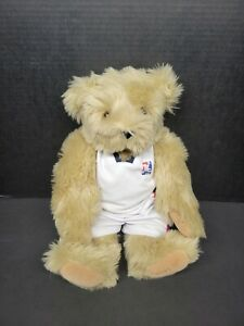 """Vermont Teddy Bear Fully Jointed With Outfit 16"""" Tall Stuffed Animal Toy"""