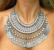 """Collier """"Chic Ethnique"""" Oriental pièce argentée (plastron ethnic necklace)"""