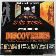 WorldBook Discoveries CD ROM Box Set IBM History of World from Big Bang-Present