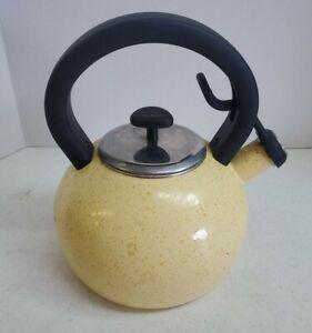 Paula Deen 2 Quart Speckled Enamel Whistling Tea Kettle, Enamel on Steel