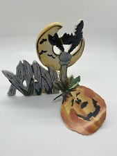 Blue Sky Clayworks Goldminc Halloween Black Cats Jewels Hats Tea Light Candle
