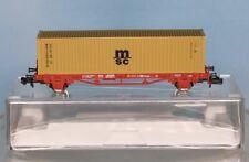 Fleischmann 931882 .2, Spur N, DB Cargo Containertragw. 2-achsig + MSC Container