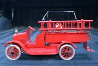 Buddy L Flivver Cowdery Fire Ladder Pumper Truck - Pressed Steel - USA