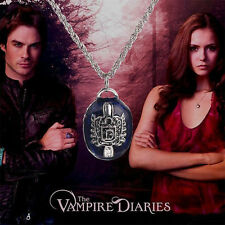 """The Vampire Diaries"" Damon Salvatore Antique Silver Pendant & Necklace Set"