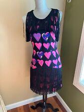 Versace For H&M US 8 Fringe Heart Dress