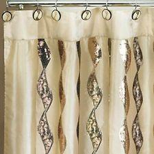 Popular Bath Shimmer Gold 70 x 72 Fabric Bathroom Shower Curtain