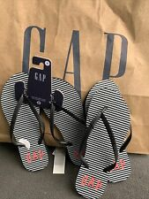 Stripes  Black & White Flip Flops US size 8 with GAP Logo) Original GAP