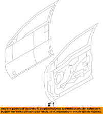 FORD OEM 11-16 F-350 Super Duty Front Door-Door Shell Left 9C3Z2520125J