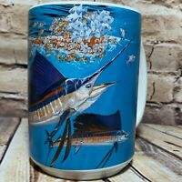 Guy Harvey 2004 Mug Deep Sea Fishing Marlin Mahi Mahi Dolphin Big Handle 16 oz