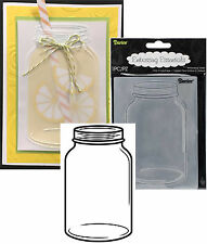 Mason Jar canning Embossing Folders Darice folders Cuttlebug Compatible 1219-121