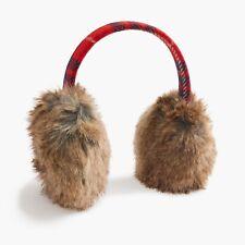 J. Crew NWT Plaid Faux Fur Earmuffs E6193