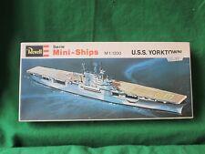 VINTAGE REVELL MINI-SHIPS USS YORKTOWN MODEL KIT 1/1200 #H-2402