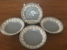 4 Wedgwood Embossed Queensware Shell Rim Dessert /Sauce Bowls Cream on Lavender