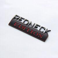 2pcs OEM REDNECK EDITION EMBLEM  Badge Wu for F-150 FORD F350 Black Red