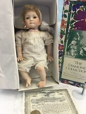 """GADCO 18"""" PORCELAIN BABY TESSA DOLL by ROTRAUT SCHROTT LE DIAMOND COLLECTION NEW"""