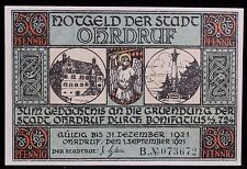 1921 German Notgeld 50 Pfennig 073486 Ohdruf Emergency Inflationary Currency
