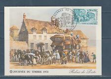 carte  1er jour  journée du timbre  76  Le Havre    1973
