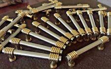 "16 nickel Vtg Lot Brass Cabinet Drawer Door Pulls Handles 5"" modern black brass"