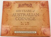.2010 100 YEARS AUSTRALIAN COINAGE 4 UNC COIN SET. A H D P