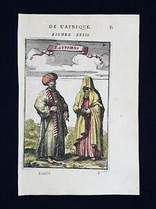 1683 A.M. MALLET: Inhabitants of Egypt, North AFRICA, Cairo, Red Sea, Sudan Suez