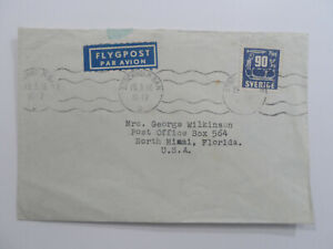 Discount Stamps : SWEDEN STOCKHOLM BAN 1956 POSTMARK HOTEL COVER USED TO FL USA