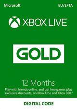 Microsoft Xbox Live 12 MONTH EUROPE Code