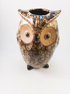 Elegant Expressions Ceramic Owl Vase Planter