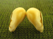 Bull Elk Teeth Ivory Whistlers- Very Nice Matched Set