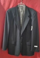 NWT LOUIS FERAUD Designer men Suit Wool Black/Charcoal Blazer/Jacket 2 Button 41