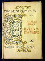 Monumenti Italia 2 - Basilica S. Pietro  - 1910