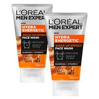 L'Oreal Paris Men Expert Hydra Energetic Cleansing Facial Wash 100ml x 2