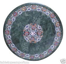 2'x2' Marble Restaurant Table Top Multi Stone Inlay Gems Floral Furniture Decor