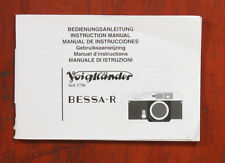 VOIGTLANDER BESSA R INSTRUCTION BOOK/147883