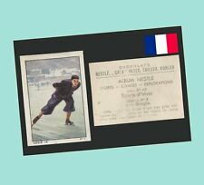 1938 Swiss Nestle Stamp Card Winter Sports #1 - Léon Quaglia Speed Skater Nm