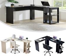 L-Shaped Computer Desk Pc Laptop Table Corner Workstation Home Office Furniture